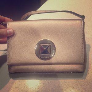 Small late spade metallic purse